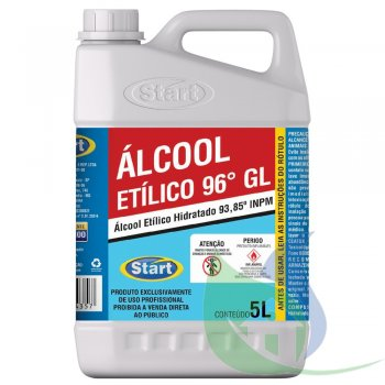 ALCOOL ETILICO 96% - GALÃO 5L - START