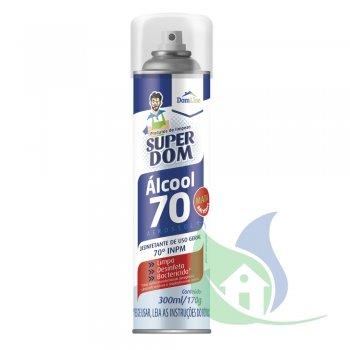 Álcool 70% Aerosol - Super Dom - Dom Line 300ml/170G