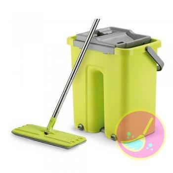 Limpador Multiuso Mop Flat Wash & Dry Quadrado Verde