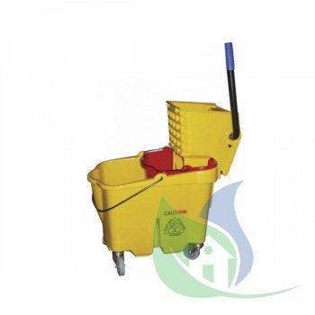 Balde Amarelo 33L C/ Espremedor e Alavanca - SUPERPRO