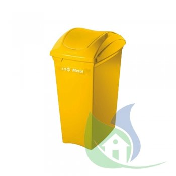 Lixeira Plástica Tampa Basculante 40L Amarela - SUPERPRO