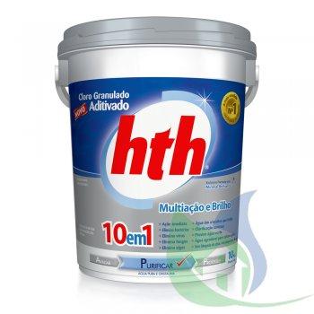 Cloro Aditivado Mineral 10 EM 1 - BALDE 10KG - HTH