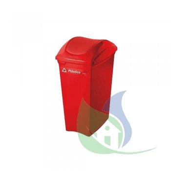 Lixeira Plástica Tampa Basculante 40L Vermelha - SUPERPRO