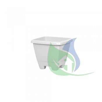 Vaso Quadrado Médio Marmorizado 6,3L - PLASNEW