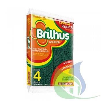 Esponja Multiuso BRILHUS leve 4 Pague 3 - BETTANIN