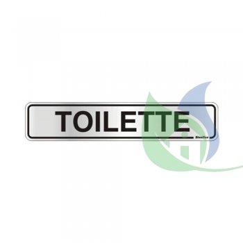 100AP - Placa Alumínio 5X25cm Toilette - Sinalize