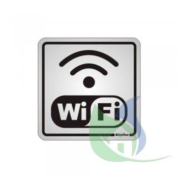 120BC -  Placa Alumínio 15X15cm Wi-Fi - SINALIZE