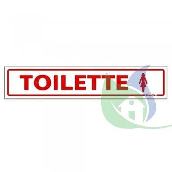 200AH - Placa Em PVC  5X25cm Toilette Feminino - SINALIZE