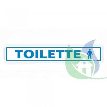 200AI - Placa Em PVC  5X25cm Toilette Masculino - SINALIZE