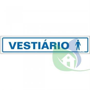 200AS - Placa Em PVC  5X25cm Vestiário Masculino - SINALIZE