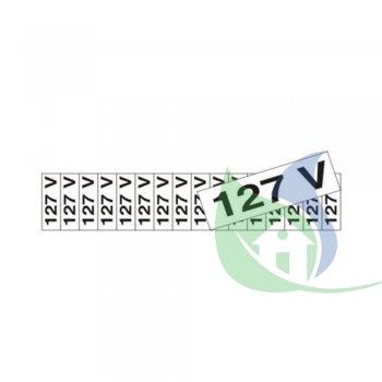 200AY - PLACA EM PVC 5X25CM ETIQUETA 127V - SINALIZE