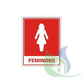 220AC - Placa Em PVC 15X20cm Sanitário Feminino - SINALIZE