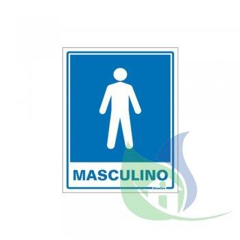 220AD - Placa Em PVC 15X20cm Sanitário Masculino - SINALIZE