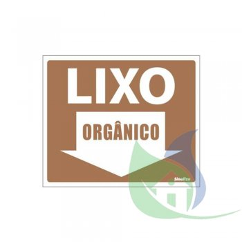 220BJ - Placa Em PVC 15X20cm Lixo Orgânico - SINALIZE