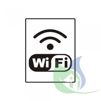 220BR - Placa Em PVC 15X20cm Wi-Fi - SINALIZE