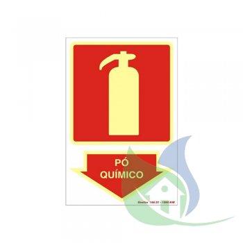 250BR - Placa Em PVC 20X30cm Pó Químico Fotoluminescência - SINALIZE