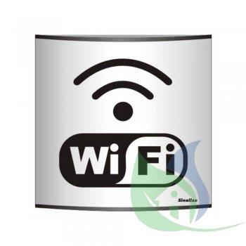 500AU - Placa Em Alumínio Calandrado 14X14CM Wi-Fi - SINALIZE