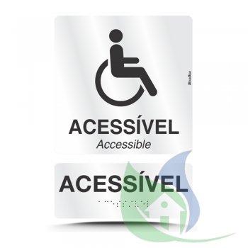 800AA - Kit Placas Alumínio Em Braille Acessível - SINALIZE