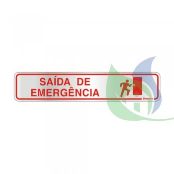100AV - Placa Alumínio 5X25cm Saída De Emergência - Sinalize