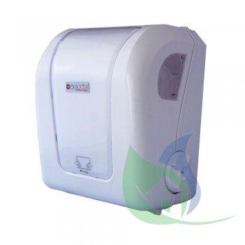 Dispenser Puxe e Corte Mini Branco C/ sobre Tampa Transparente - EXACCTA