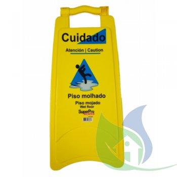 Placa Sinalização Plástica - Piso Molhado - SUPER PRO BETTANIN