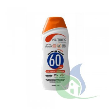 Protetor Solar 60 FPS 1/3 Uva 120ml - NUTRIEX