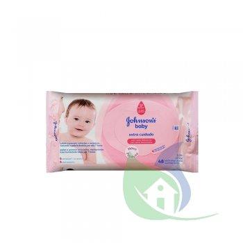 Lenços Umedecidos Baby Extra Cuidado Pacote Com 48 Un - JOHNSON & JOHNSON