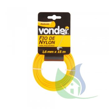 Fio De Nylon 1,6 mm X 15 m Redondo - VONDER