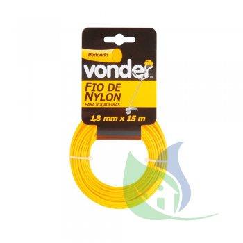 Fio De nylon 1,8 mm X 15 m Redondo - VONDER