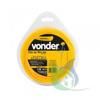 Fio De Nylon 3,0 mm X 50 m Redondo - VONDER