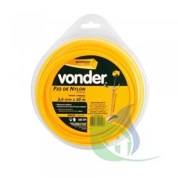 Fio De Nylon 3,0 mm X 50 m Quadrado - VONDER