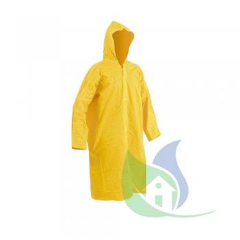 Capa de Chuva Em PVC Laminado Com Forro Amarelo Tamanho G - VONDER