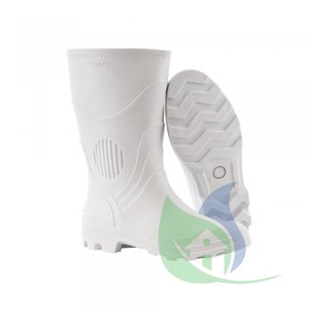 Bota PVC Branca Cano Médio Com Forro N 41 - VONDER