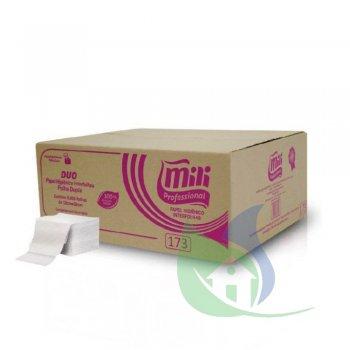 Papel Higiênico Interfolhado Cai Cai Folha Dupla 10X20cm Caixa Com 8000 Folhas - MILI