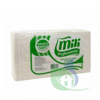 Papel Toalha Interfolhado Folha Simples 23x20cm Pacote Com 1000 Folhas - MILI