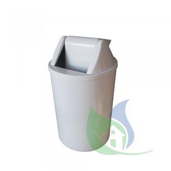 Cesto de Lixo 15L Com Tampa Basculante Branco - LP