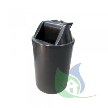 Cesto de Lixo 15L Com Tampa Basculante Preto - LP